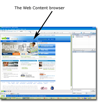 The Web Content browser